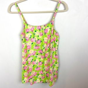 Lilly Pulitzer Rhino Floral Print Swimsuit Size 4